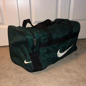 NIKE Green Duffel Bag